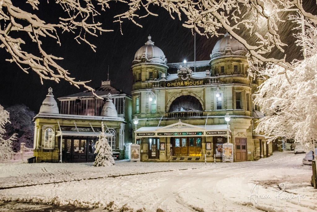 Buxton Opera House in the snow