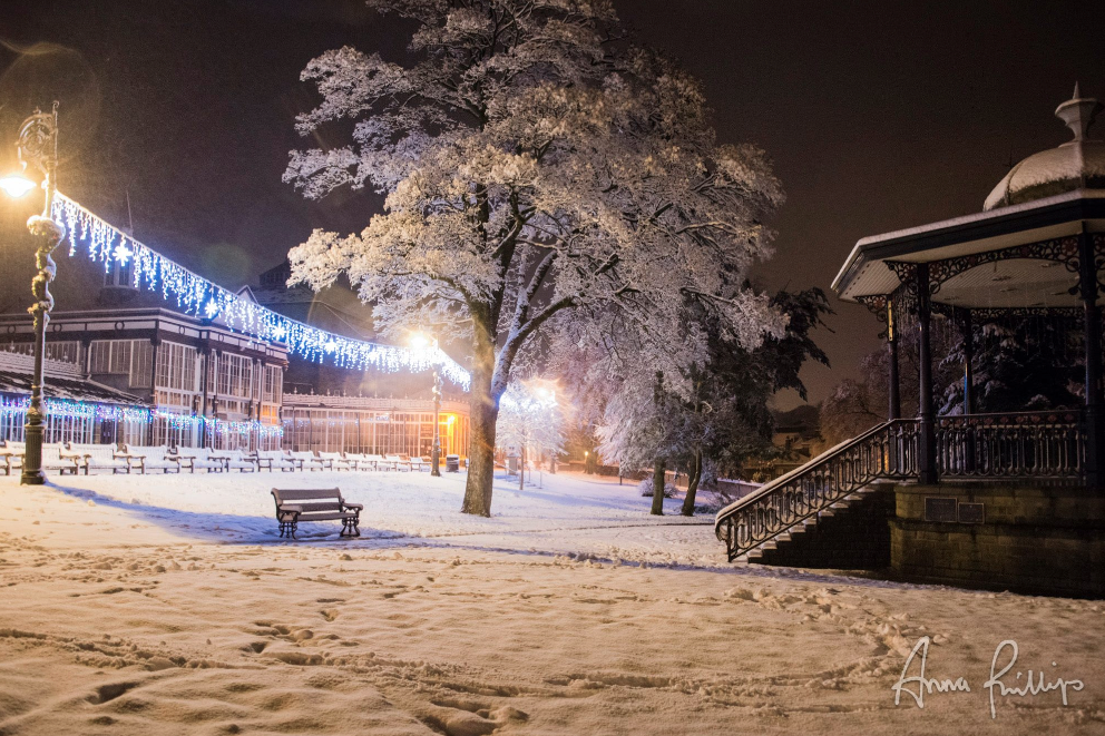 Pavilion Gardens in the snow Buxton