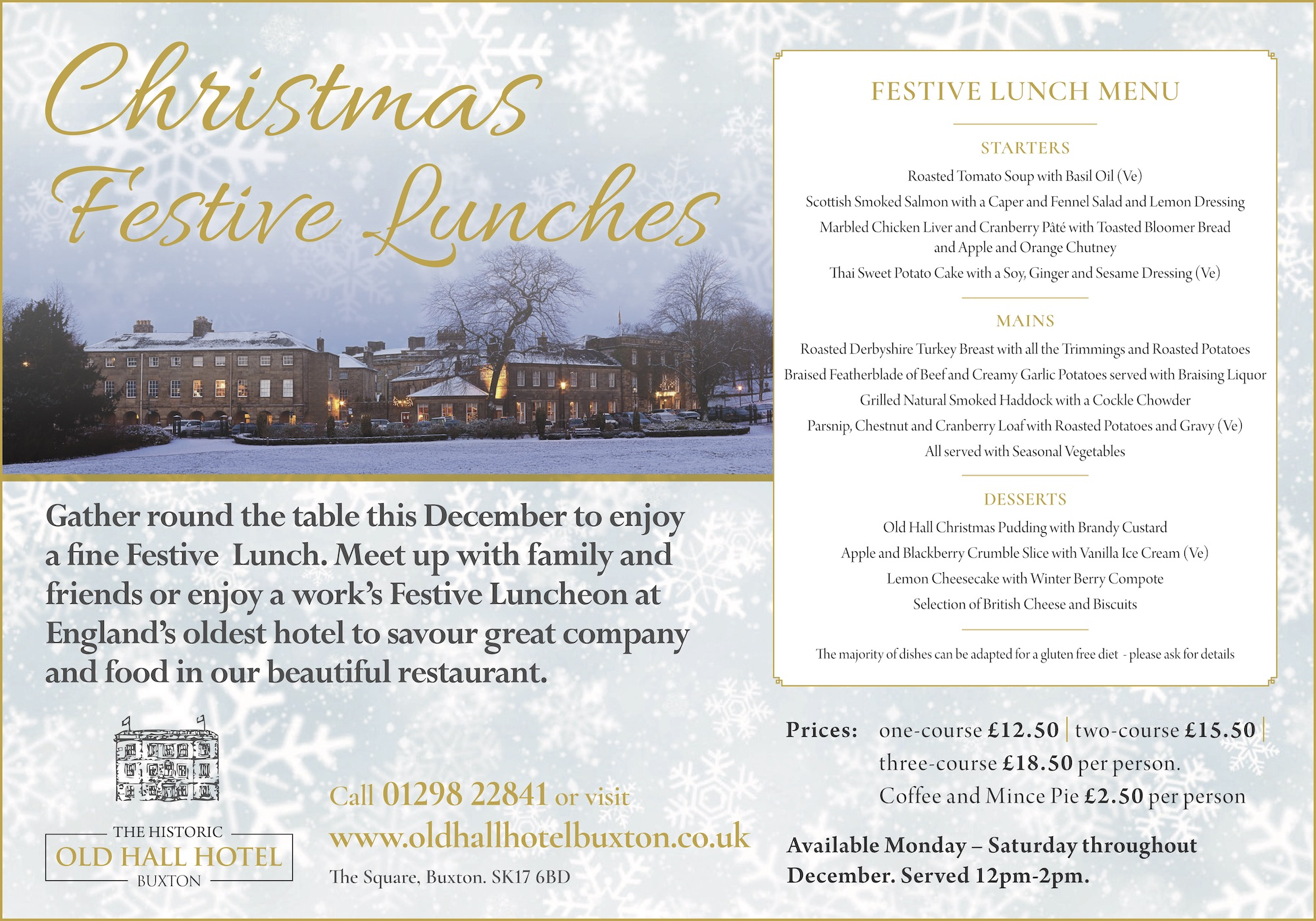 Christmas Festive Lunches